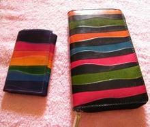 Ladies purse and key holder rainbow design