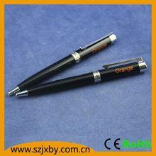 blue and white porcelain pen bling writing pen cello gripper ball pen