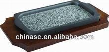 Granite stone die cast aluminum beef grill tray