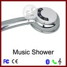 2014 Dusun battery charge screen touch wireless bluetooth music phone speaker hand shower head extension hidden camera shower