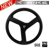 Accelerating fast 700c carbon three spoke wheel,carbon tri-spoke wheel,tri-spoke bicycle wheel