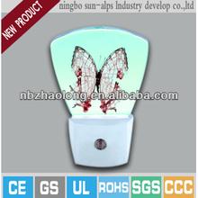 Mini decorative baby bedding toys night lights with sensor New design 110v under cabinet lights ceramic plug in night lights