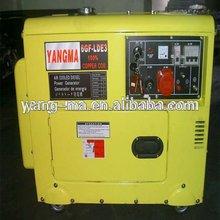 6GF-LDE+ATS KDE6700TA TYPE air cooled electric 380V diesel silent generator 6kw 6kva