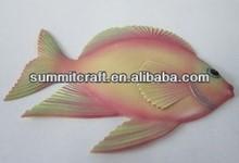 Color painted marine aquarium fish wholesale resin fish statues vivid fish ornament