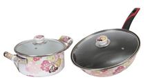 Non-stick Enamel Soup Tureen Set Enamel Saute Pan With Bakelite Handle