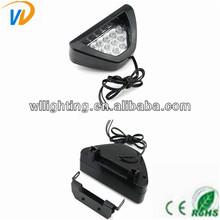 F1 racing car and motorcycle headlights install brake lights 12 led strobe light triangular taillights