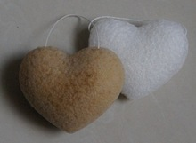 100% natural Konjac face and body sponges