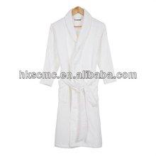 Cotton Polyester White Soft Luxury Waffle Adult Bathrobe