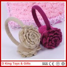 Beautiful Design Knitted Flower Rose Earmuffs Flower Earmuffs
