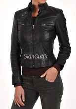 Original leather jacket for woman 100% pure cow skin