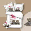 Reactive printed bedding set with animal style