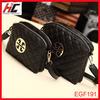 2013 trendy ladies bags mumbai black plaid chain hand bag