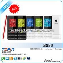 China OEM & ODM telefono B585 with 1.77inch screen GSM quadband SC6531