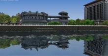 3D architecture Bird's eye view rendering