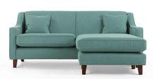 Halston Corner Sofa, Aqua