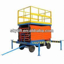 4-18 m movable scissor lifting platform for sale/hydraulic lift for car wash