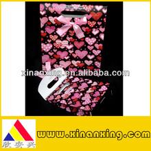 heart pattern art paper bag for gift