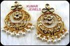 Designer Gold Plated Kundan Earrings