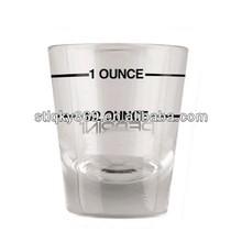 lyT428 Glassware Wholesale Glass Measuring Cup logo Shot Glasses 2oz Custom Measure Shot glasses Mini Measuring Shot Glass