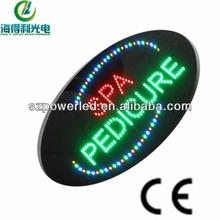 oval acrylic spa pedicure flashing hanging led signs