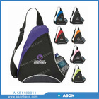 Ason triangle bag Natural Curve Sling Backpack with mesh water bottle pocket