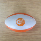 promotional PU Anti stress rugby balls with logo printed