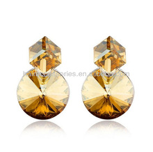 Fashion jewelry square and round crystal shape Earring
