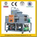 20% de ahorro de energía automático operatiion movible centrífuga de vacío para los residuos de aceite de equipos de purificación