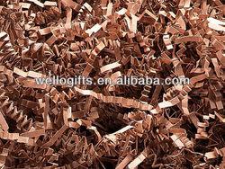 Brown kraft paper crinkle cut shredded paper for chocolate box filler