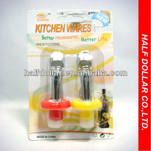 Kitchen use-2pcs Stainless Steel/plastic Wine Stopper For One Dollar Item
