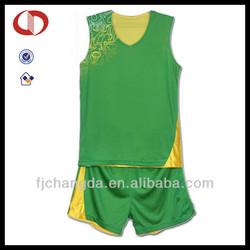Custom latest mens basketball uniform design green