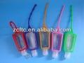 Bottiglia di plastica pet con titolare di silicio. 1 oncia bottiglia di plastica