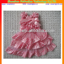 2014 kids fashion show dresses new design made in china