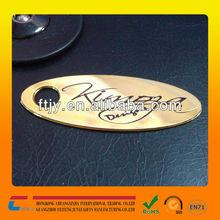 discount wholesale 2 holes metal hang tag