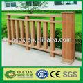 China jardín de utilidad compuesto plástico de madera wpc correos/cerca de ferrocarril para la venta