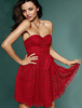 Fashion Sweetheart Red Sleeveless Short Mini Lace Prom Dress Cocktail Dress