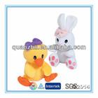 CE ASTM stuffed plush easter soft toy duck rabbit assortment