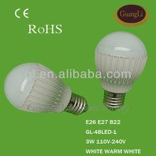 CE approved save energy 220v e27 led light bulb cool white