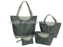 600d polyester cheap women shopping handbags