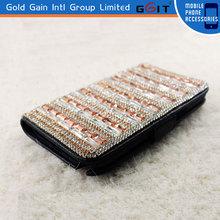 Diamond Glitter Flip Wallet case for Galaxy Note 2