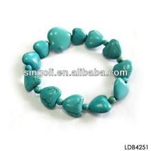 2014 new product Ali express heart shaped stone handmade bracelet for baby