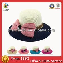 straw sun visor hat two tone wholesaler sun shade summer paper wide brim straw beach hats