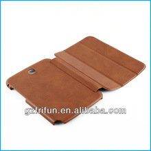 Brown leather case for samsung galaxy note made in china