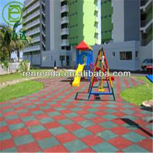 Clean rubber flooring bricks for kindergarten