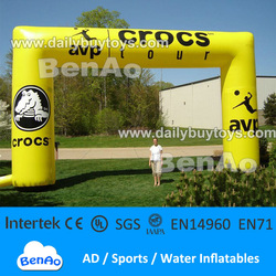 Yellow inflatbale tent Inflatable event arch AR87