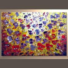 Wholesale Handmade Flower Art Painting Romantic Art Decor For Home