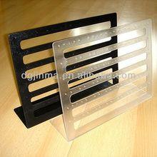 custom design acrylic display stand book holder ,custom acrylic office stationary holder