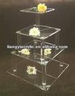 cupcake custom wedding 4 tier acrylic square cake stand factory promotional