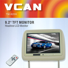TM-920H car monitors headrest 4:3 color TFT LCD screen for DVD