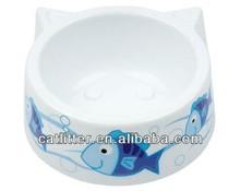 Pet Cat small bowl dish cat ears shape